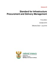 Annexure B – Standard for Infrastructure Procurement and Delivery Management