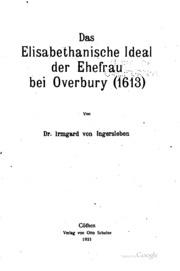 Das Elisabethanische ideal der Ehefrau bei Overbury1613