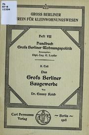 Das Gross Berliner Baugewerbe