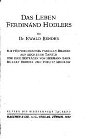 Das Leben Ferdinand Hodlers