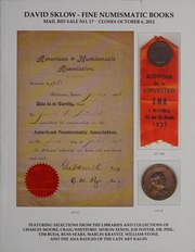 David Sklow Fine Numismatic Books Mail Bid Sale No. 17