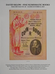 David Sklow Fine Numismatic Books Mail Bid Sale No. 20