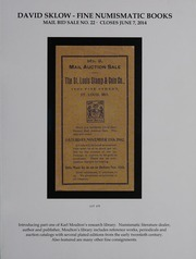 David Sklow Fine Numismatic Books Mail Bid Sale No. 22