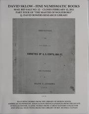 David Sklow Fine Numismatic Books Mail Bid Sale No. 12