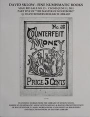 David Sklow Fine Numismatic Books Mail Bid Sale No. 13