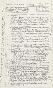 Inventory of John E. Davis Theft