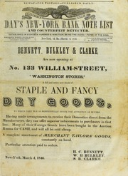 Day's New-York Bank Note List and Counterfeit Detecter