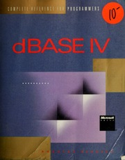 dBASE IV : complete reference for programmers : Hergert
