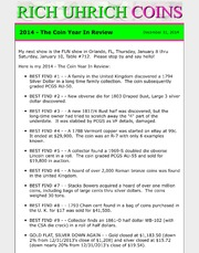 December 2014 - The Coin Year In Review