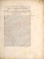 Declaration qui prescrit l'ordre et la forme des comptes