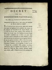Décret de la Convention nationale, du 26 mai 1793, l'an second de la République françoise, interprétatif du décret du 17 mai 1790, sur l'abolition du retrait féodal ou censuel