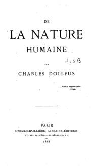 dissertation sur la nature humaine