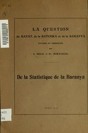 De la statistique de la Baranya