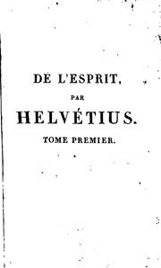 helvetius de l esprit pdf