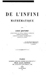 De l-infini mathématique ...