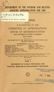 House of representatives interior appropriations