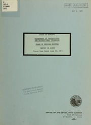 Department of Professional and Occupational Licensing, Board of Medical Doctors; report on audit, 1972