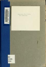Der Kubismus; ein künstlerisches Formproblem unserer Zeit