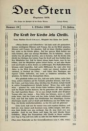 Vol 71 no. 19: Der Stern