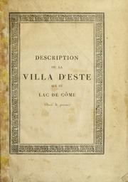 Description de la Villa d'Este sur le lac de Côme. Ornée de gravures