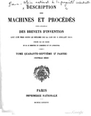 Description des machines et proc d s pour lesquels for Ministere exterieur france