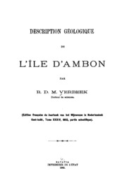 Description géologique de l-île d-Ambon