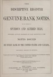 The Descriptive Register of Genuine Bank Notes