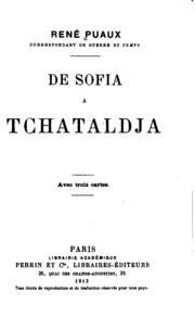 De Sofia à Tchataldja