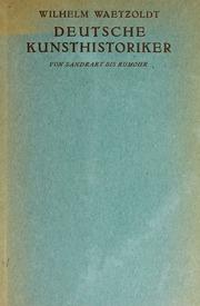 Deutsche Kunsthistoriker, v.1