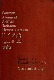 Deutsch Als Fremdsprache Ia Grundkurs Pdf