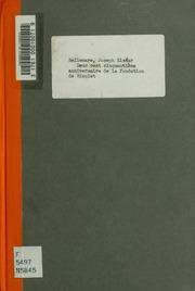 Deux cent cinquantième anniversaire de la fondation de Nicolet; conférence donnée dans la Cathedrale de Nicolet le 23 novembre 1919