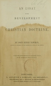 an essay on the development of christian doctrine 1845