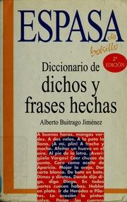 Diccionario De Dichos Y Frases Hechas Buitrago Jiménez