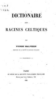 Dictionaire des racines celtiques
