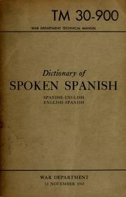 Dictionary of spoken Spanish : Spanish-English, English