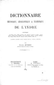 Dictionnaire historique, géographique et statistique de l-Indre