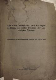 Die Nova Constellatio- und die Fugio-Muenzen, die erster Muenze der Vereinigten Statten