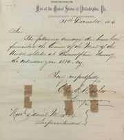 Dies furnished Phila. mint 1886