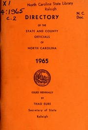 Directory of the state and county officials of North