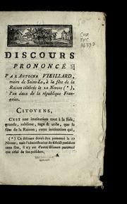 Discours prononcé par Antoine Vieillard, maire de Saint-Lo, à la fête de la raison célébrée le 20 nivose, l'an deux de la République française.