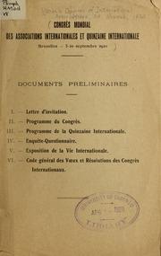 Documents préliminaires