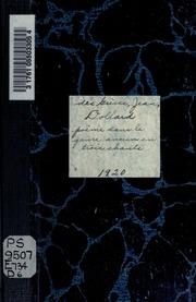 Dollard, poème dans le genre ancien en trois chants