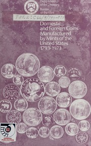 Domestic Coin Manufactured by Mints of the United States, 1793-1973