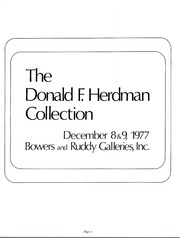 Donald F. Herdman Collection