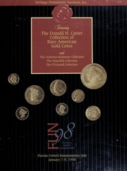 The Donald H. Carter Collection of Rare American Gold Coins