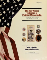 The Don Warner collection of political memorabilia. [04/04/1981]-NYC [08/08/1981]-Carlisle, Pa.