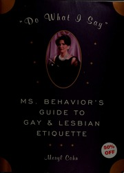 Behavior etiquette gay guide i lesbian ms say