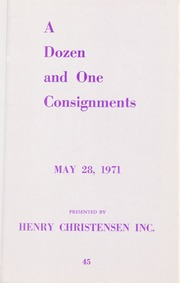 A Dozen and Once Consignments