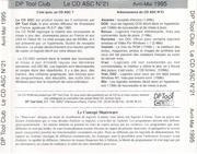 DP Tool Club CD-ASC 21