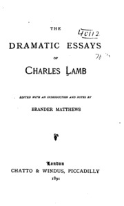 charles lamb s essays charles lamb streaming  the dramatic essays of charles lamb